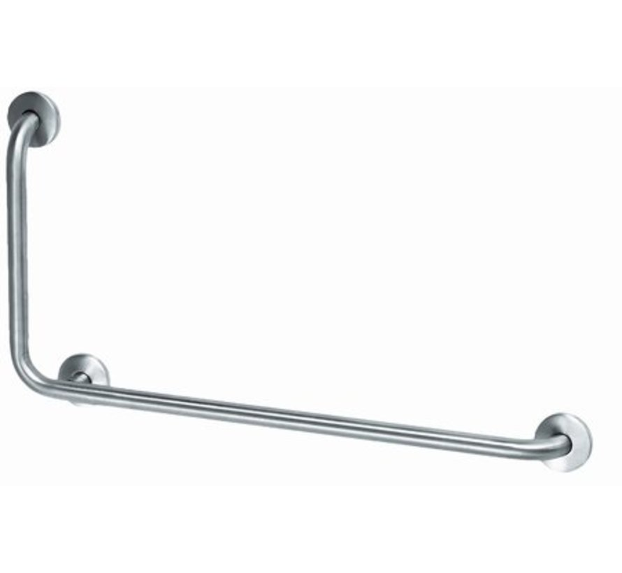 Grab bar stainless steel with 90? corner to the left