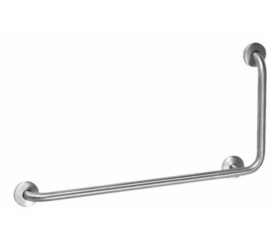 Grab bar stainless steel with 90? angle to the right