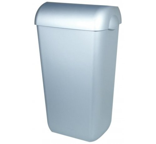 PlastiQline  Poubelle en plastique en acier inoxydable 23 litres ouverte