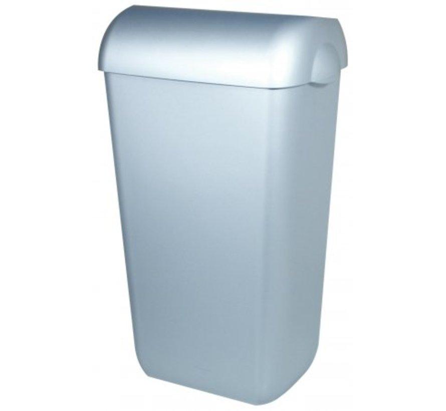 Afvalbak kunststof RVS look 23 liter open