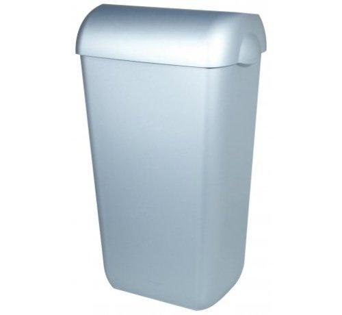 PlastiQline  Poubelle en plastique en acier inoxydable 43 litres ouverte