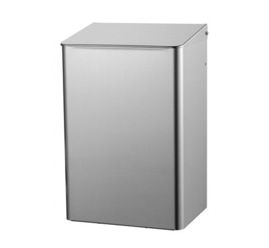 Waste bin 15 liters stainless steel