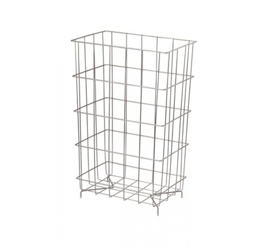 Waste basket stainless steel 60 liters