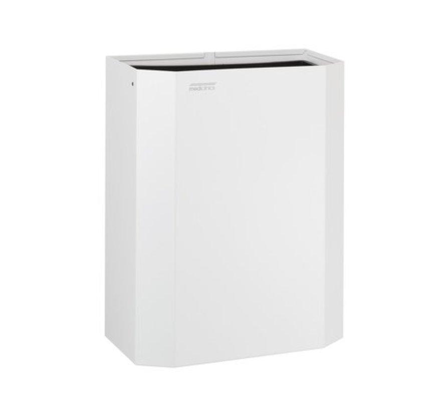 Afvalbak open 25 liter wit