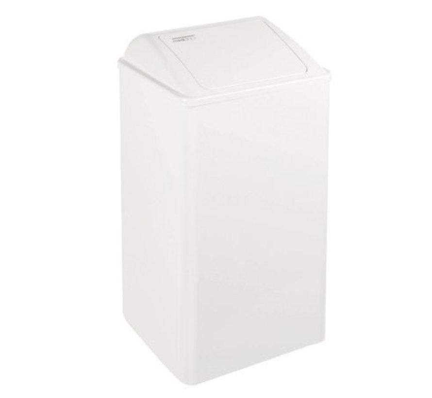 Afvalbak gesloten 65 liter wit