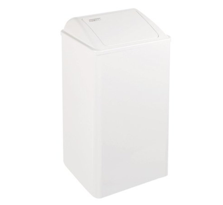 Waste bin closed 65 liters white