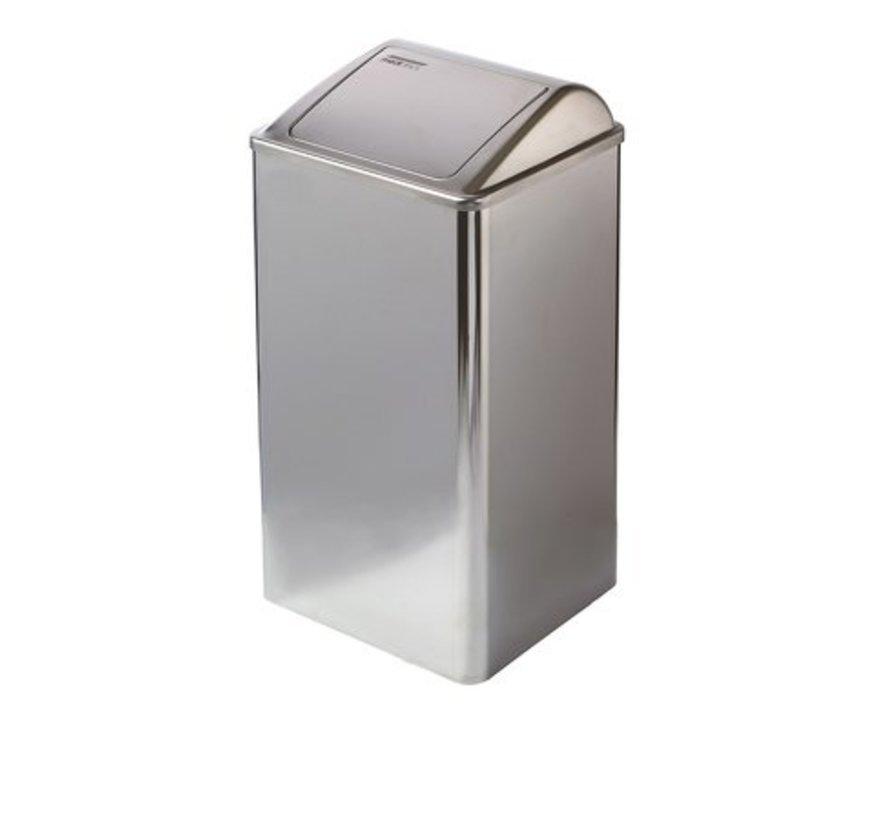 Afvalbak gesloten 65 liter hoogglans