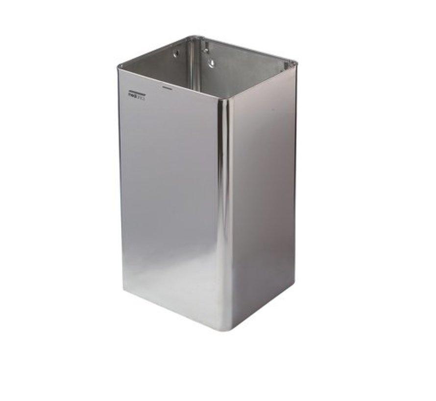 Poubelle ouverte 65 litres brillant