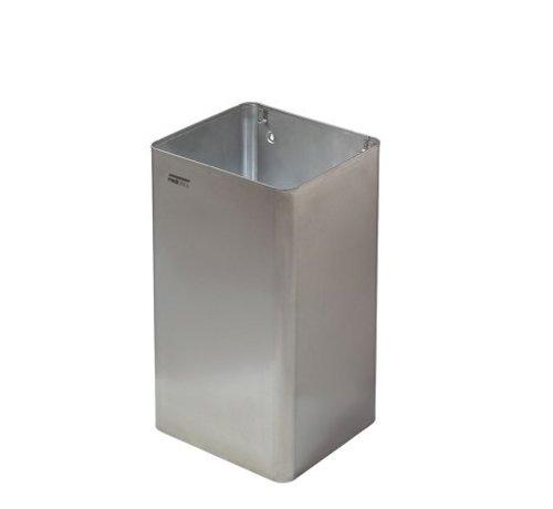 Mediclinics Poubelle ouverte 65 litres en acier inoxydable