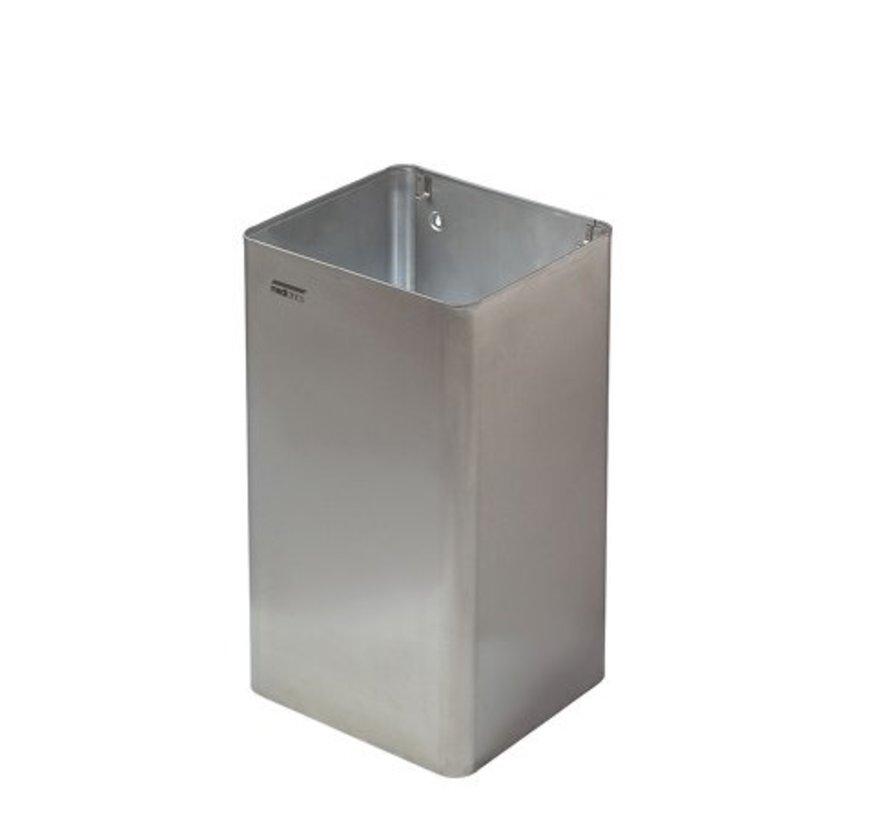 Poubelle ouverte 65 litres en acier inoxydable