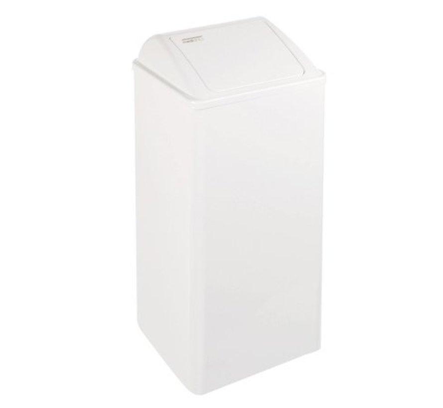 Afvalbak gesloten 80 liter wit