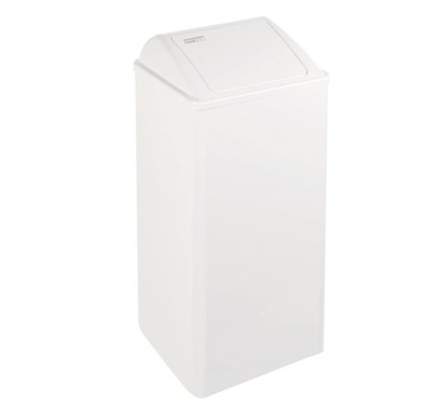 Waste bin closed 80 liters white