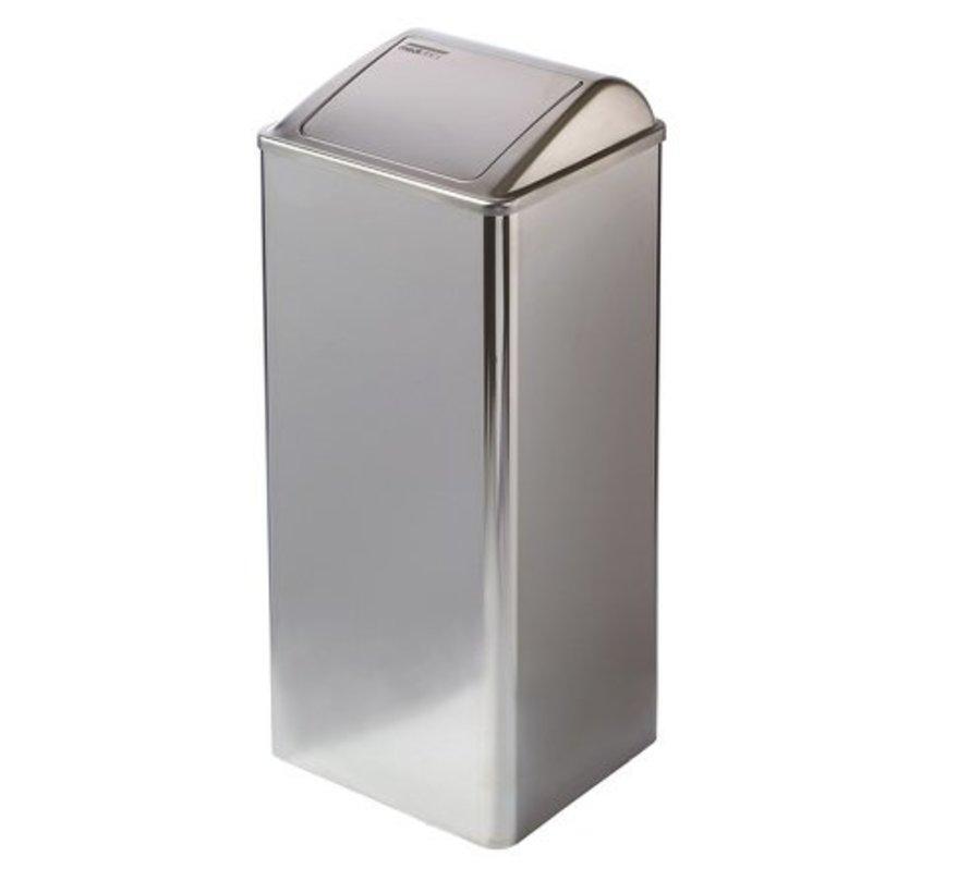 Afvalbak gesloten 80 liter hoogglans