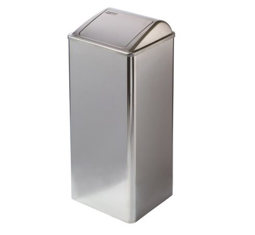 Waste bin closed 80 liters high gloss
