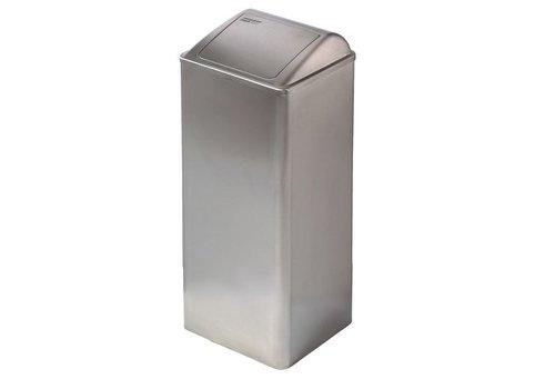 Mediclinics Afvalbak gesloten 80 liter RVS