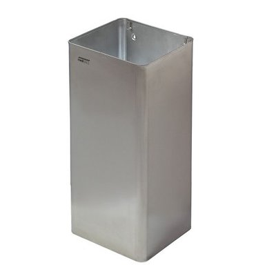 Mediclinics Waste bin open 80 liters stainless steel