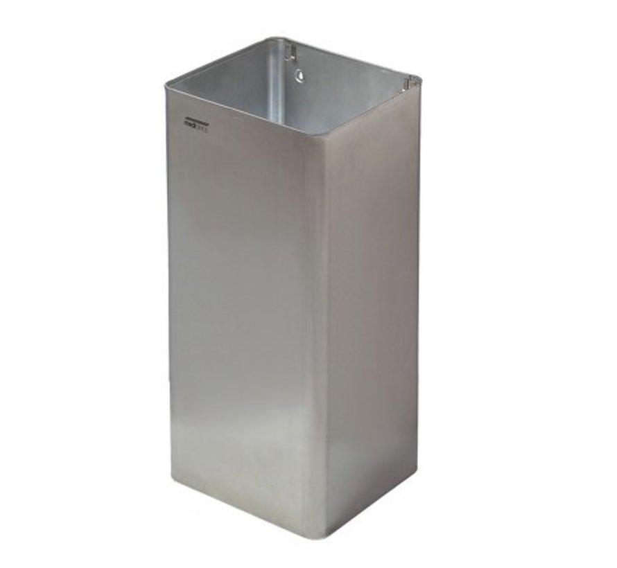 Poubelle ouverte 80 litres en acier inoxydable