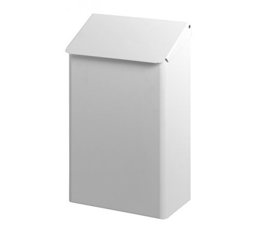 Waste bin 7 liters stainless steel white