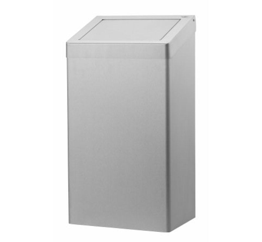Waste bin 50 liters stainless steel