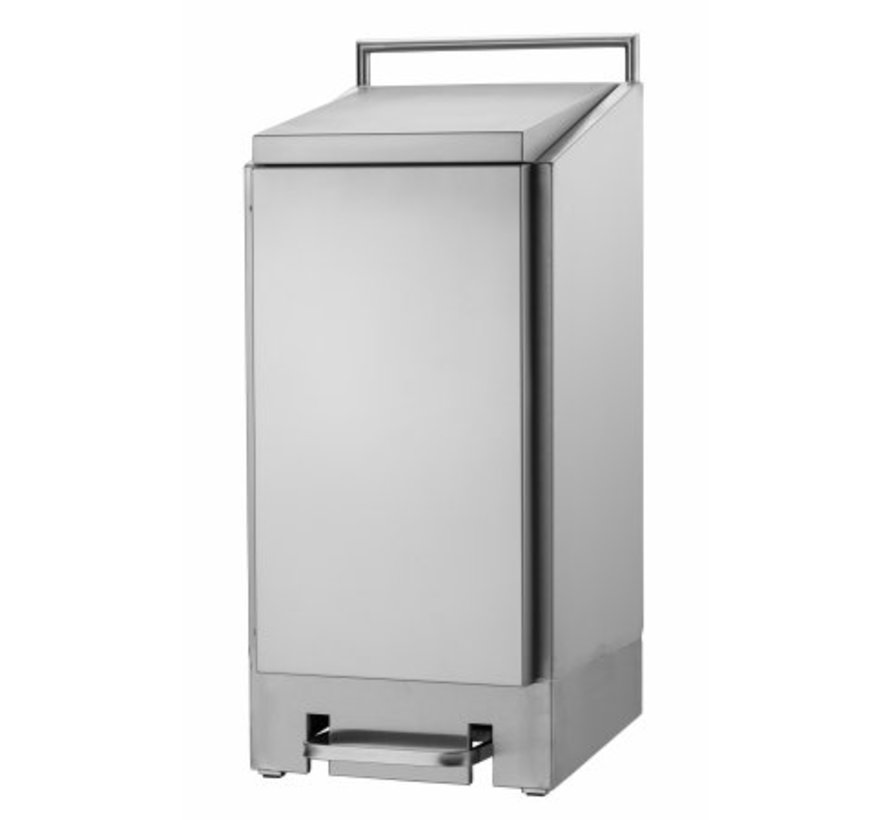 Support sac poubelle inox 120 litres