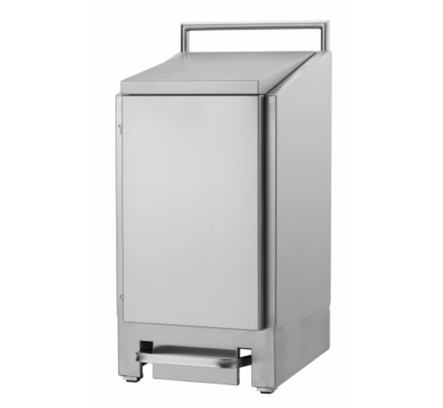 Waste sack holder stainless steel 60 liters