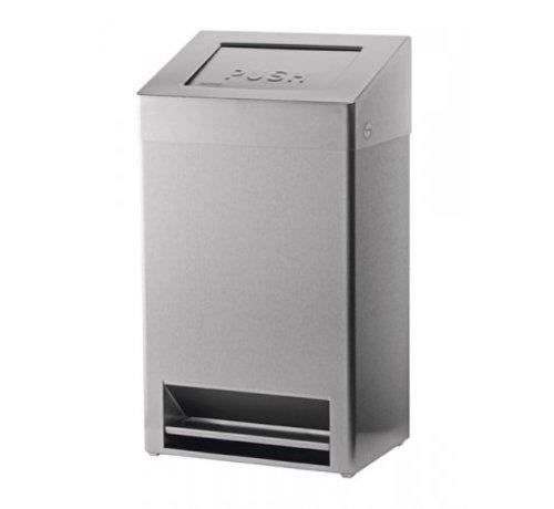 SanTRAL Waste bin closed + foot control 40 liters
