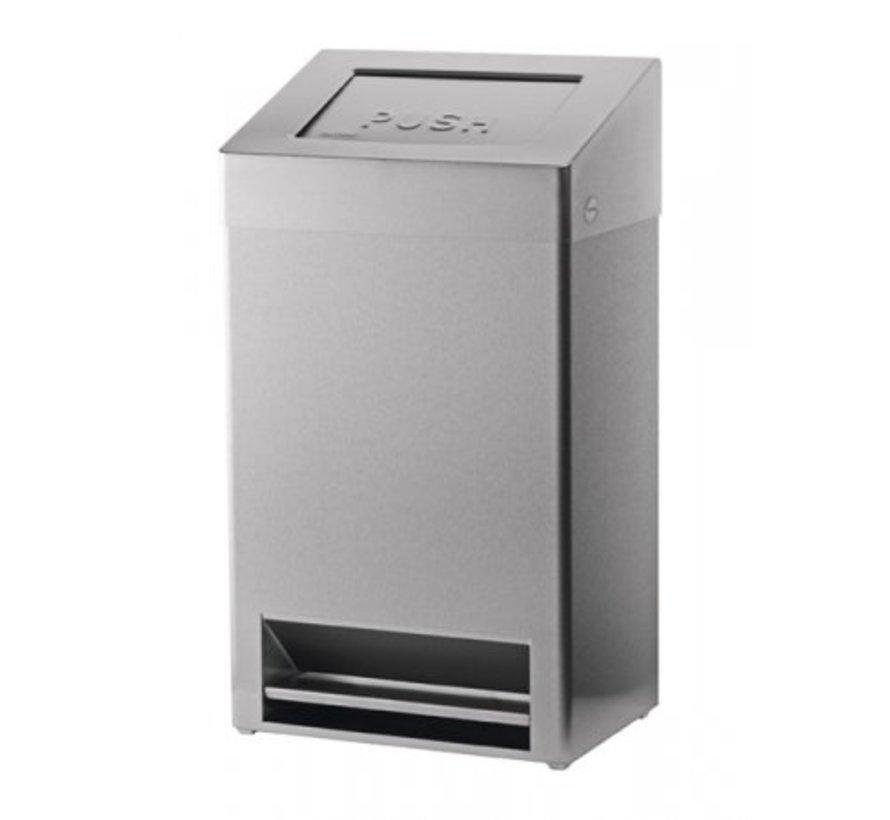 Waste bin closed + foot control 40 liters