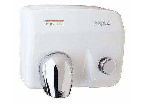 Mediclinics Handendroger wit drukknop