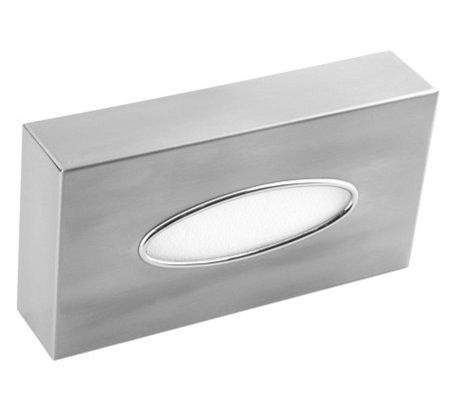 Facial tissue dispenser stainless steel