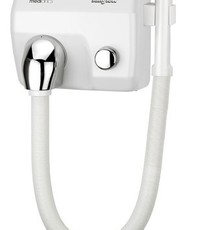 Mediclinics Hair dryer push button white with hose