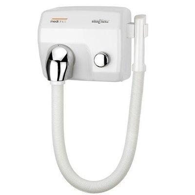 Mediclinics Haardroger drukknop wit met slang