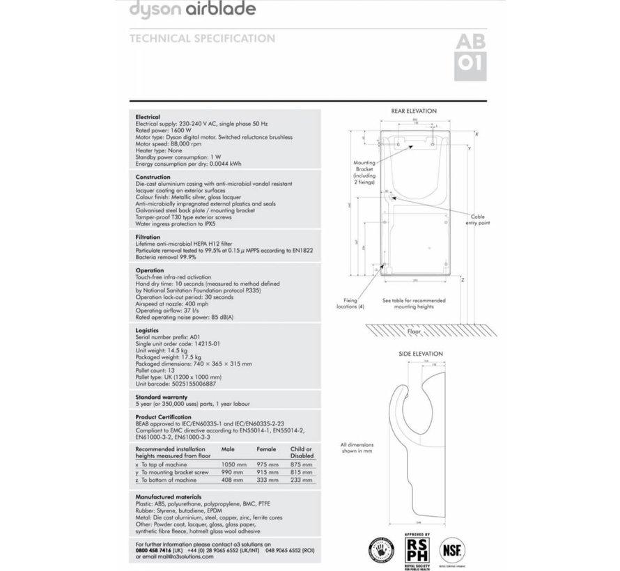 Airblade - Acier AB01