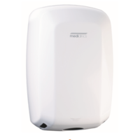 Hand dryer high-gloss automatic White
