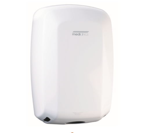 Mediclinics Hand dryer high-gloss automatic White