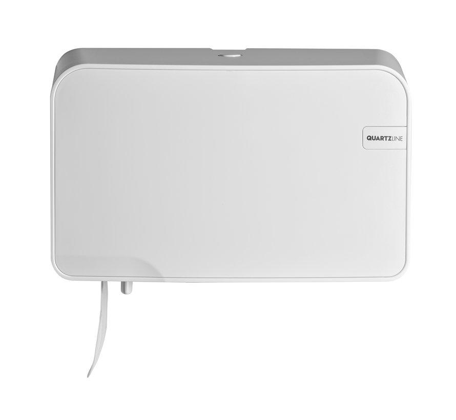 White Quartz duotoiletrolhouder compact/traditioneel