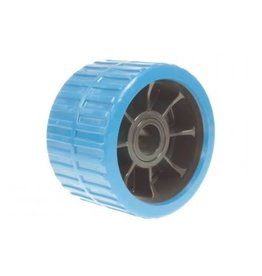 Blue Non Marking Ribbed Wobble Boat Roller 74 x 120 x 21mm