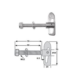 Commercial Body Fittings Anti Luce Drop Lock 76mm Shank