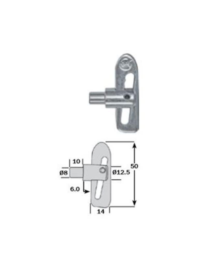 Commercial Body Fittings Mini Anti Luce Drop Lock 8mm Shank | Fieldfare Trailer Centre
