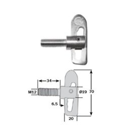 Commercial Body Fittings Anti Luce Drop Lock 34mm Shank