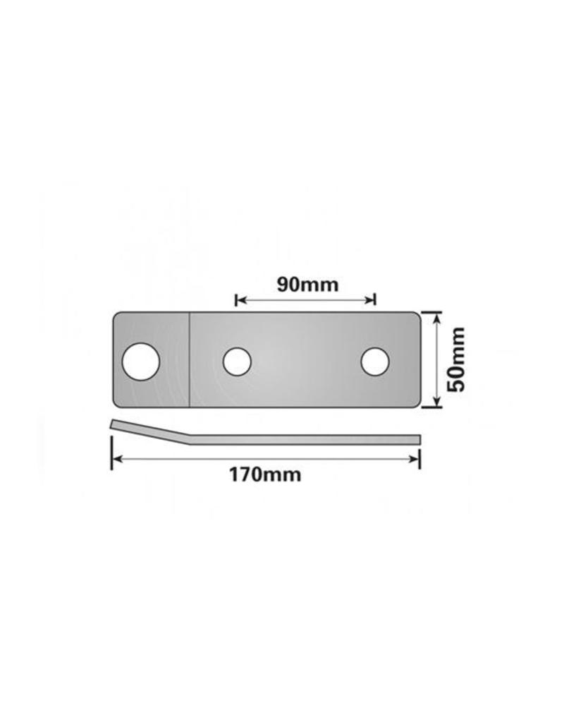 Vehicle Breakaway Cable Fixing Plate 170 x 50mm | Fieldfare Trailer Centre