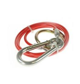 Line 1 Trailer Breakaway Cable 1m Split Ring Red PVC