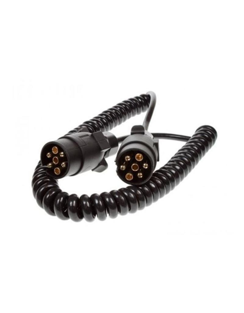 Trailer 2.5m Curly Connecting Lead 12N 7 Pin Plug | Fieldfare Trailer Centre