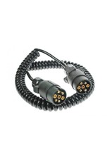 Trailer 3m Curly Connecting Lead 12N 7 Pin Plug | Fieldfare Trailer Centre