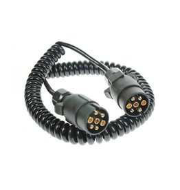 Trailer 3m Curly Connecting Lead 12N 7 Pin Plug