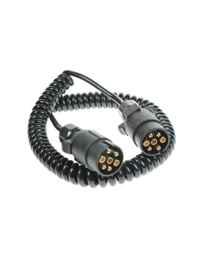 Maypole Trailer 3m Curly Connecting Lead 12N 7 Pin Plug   Fieldfare Trailer Centre