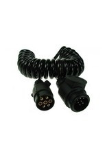 Trailer 2.5m Curly Connecting Lead 7 Pin Plug to 13 Pin Plug | Fieldfare Trailer Centre