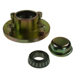Unbraked Hub with bearings studs 4 Stud 4 inch  pcd 500kg