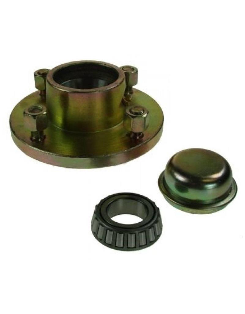 Unbraked Hub with bearings studs 4 Stud 4 inch  pcd 500kg | Fieldfare Trailer Centre