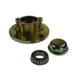 Unbraked Hub c/w bearings 4 Stud 100mm pcd