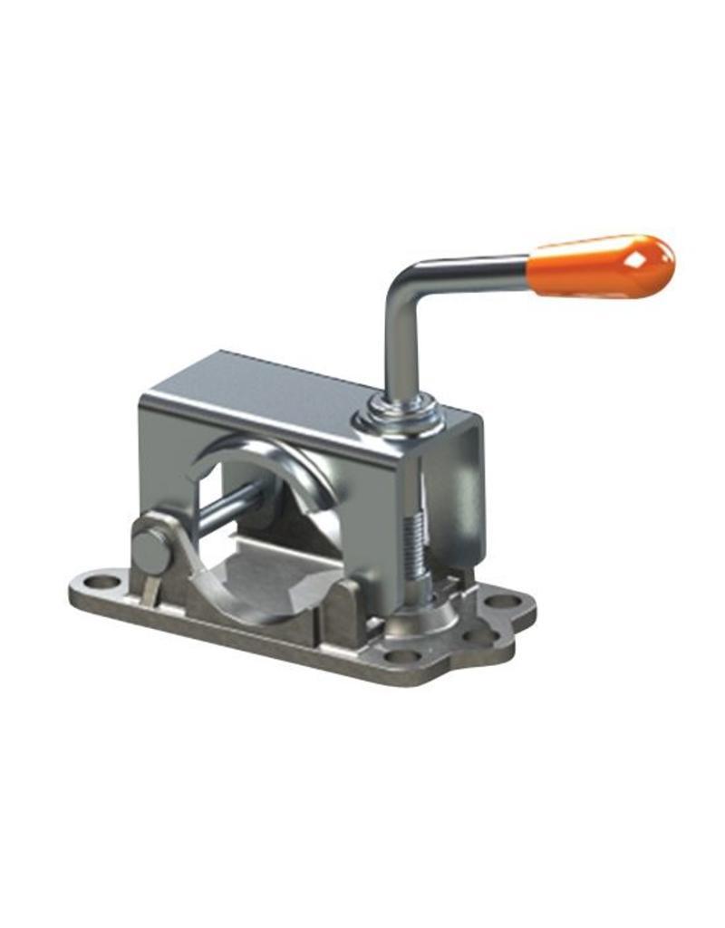 Kartt Orange 48mm Diameter Jockey Wheel Clamp with Cast Base | Fieldfare Trailer Centre